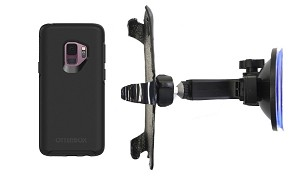 SlipGrip Car Holder For Samsung Galaxy S9 Using Otterbox Symmetry Case HV