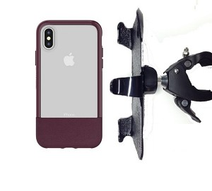 "SlipGrip 1.5"" Bike Holder For Apple iPhone X Using Otterbox Statement Case"