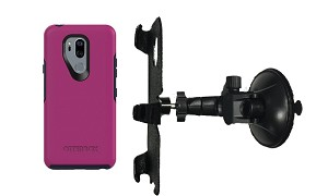 SlipGrip Car Holder For LG G7 Thin Q Using Otterbox Symmetry Case LP