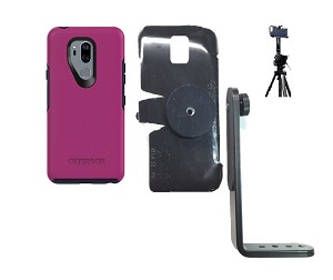 SlipGrip Tripod Mount For LG G7 Thin Q Using Otterbox Symmetry Case