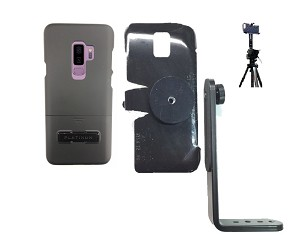 new style 1ef05 b4bd0 SlipGrip Tripod Mount For Samsung Galaxy S9 PLus Using Best Buy Platinum  KickStand Case