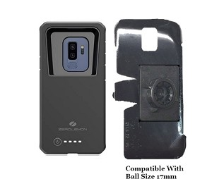 SlipGrip 17MM Holder For Samsung Galaxy S9 Plus Using Zerolemon 8000mAh Case