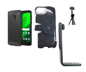 timeless design 99dd4 ac114 SlipGrip Tripod Mount For Motorola Moto G6 Phone Using Motorola MoKo TPU  Slim Case