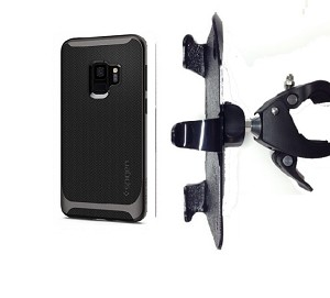 "SlipGrip 1.5"" Bike Holder For Samsung Galaxy S9 Using Spigen Neo Hybrid Case"
