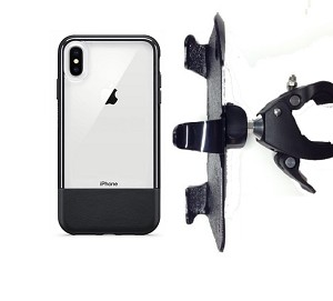 "SlipGrip 1.5"" Bike Holder For Apple iPhone XS Max Using Otterbox Statement Case"