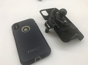 SlipGrip RAM Holder For Apple iPhone XS Max Using Otterbox Defender Case
