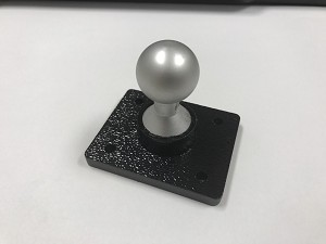 SlipGrip 22mm Ball Flat Base With AMPS 4 Holes Pattern