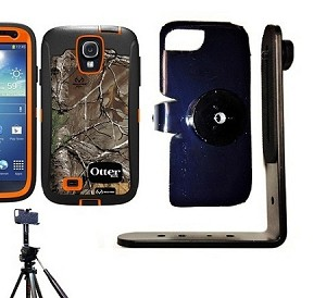 SlipGrip Tripod Mount For Samsung Galaxy S IV S4 i9500 Using Otterbox Defender Realtree Camo Case