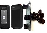 "SlipGrip 1"" Bike Holder For Apple iPhone 4 4S Using Lunatik Taktik Extreme Case"