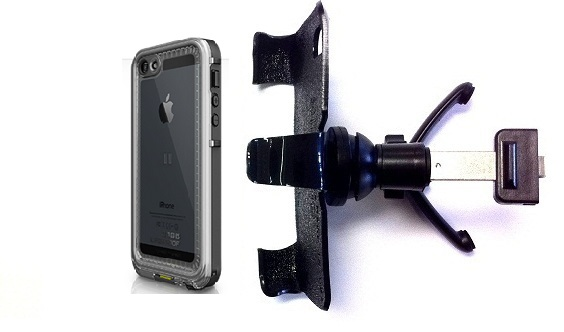 SlipGrip Vent Holder For Apple iPhone 5 5S Using LifeProof Nuud Case