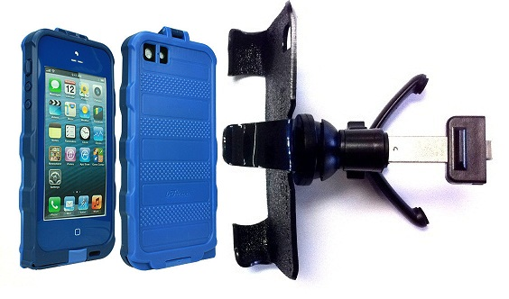 SlipGrip Vent Holder For Apple iPhone 5 5S Using bFree Aqua Waterproof Proof Case