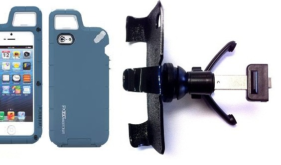 SlipGrip Vent Holder For Apple iPhone 5 & 5S LTE eration Using PureGear PX360 Protector Case
