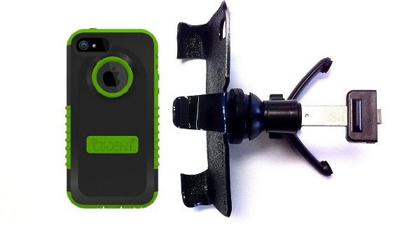 SlipGrip Vent Holder For Apple iPhone 5 & 5S Using Trident Cyclops Case