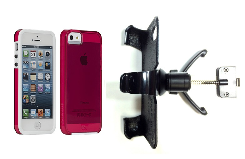 SlipGrip Vent Holder For Apple iPhone 5 & 5S Using Case-Mate Naked Tough Case