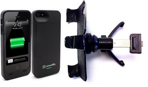 SlipGrip Vent Holder For Apple iPhone 5 & 5S Using Lenmar Meridian Battery Case
