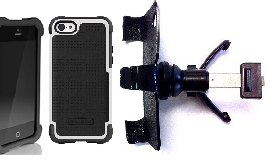 SlipGrip Vent Holder For Apple iPhone 5C Using Ballistic SG Case