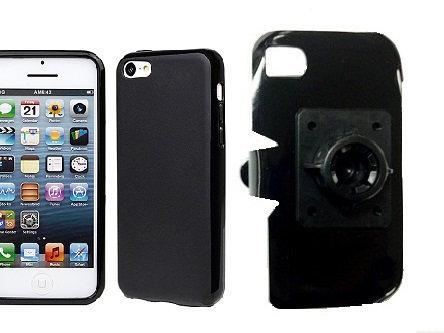 SlipGrip 17MM Holder For Apple iPhone 5C Using Hard Rubber Hard Rubber Gel Case