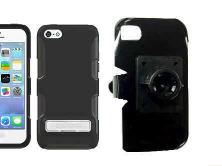 SlipGrip 17MM Holder For Apple iPhone 5C Using Seidio Active Metal KickStand Case