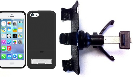 SlipGrip Vent Holder For Apple iPhone 5C Using Seidio Surface KickStand Case