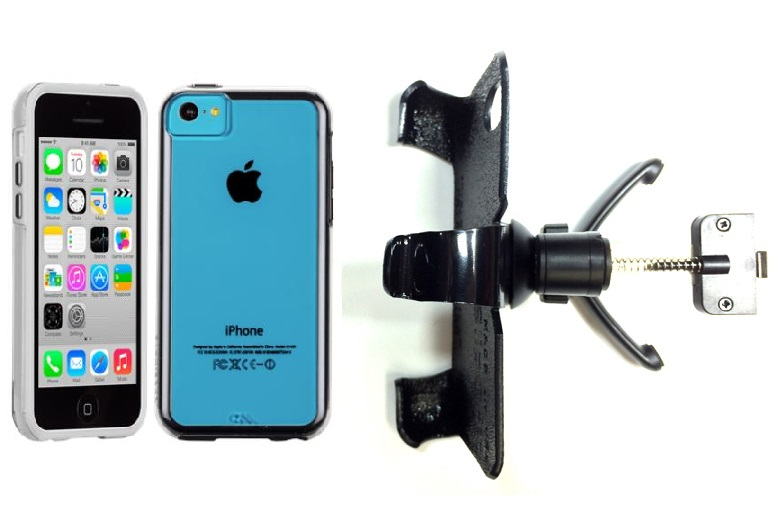 SlipGrip Vent Holder For Apple iPhone 5C Using Case-Mate Naked Tough Case