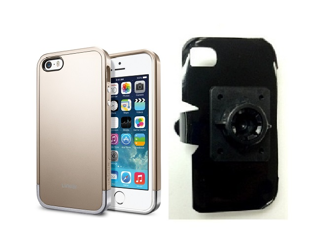 SlipGrip 17MM Holder For Apple iPhone 5 & 5S Using SPIGEN Linear Metal Case