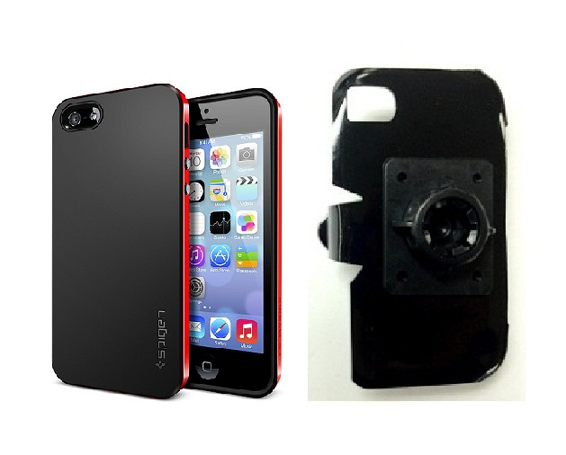 SlipGrip 17MM Holder For Apple iPhone 5 & 5S Using SPIGEN Neo Hybrid Case