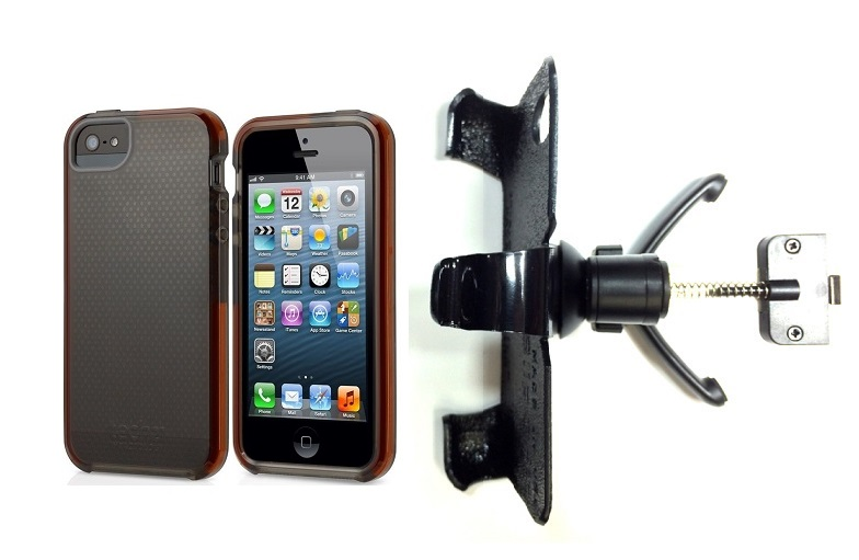 SlipGrip Vent Holder For Apple iPhone 5 & 5S Using Tech21 Impact Mesh Case