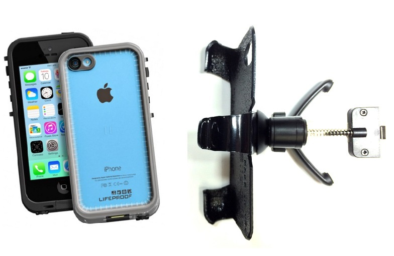 SlipGrip Vent Holder For Apple iPhone 5C Using LifeProof FRE Case