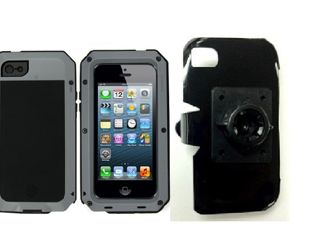 SlipGrip 17MM Holder For Apple iPhone 5 & 5S Using Aluminum Lunatik Taktik Strike Case