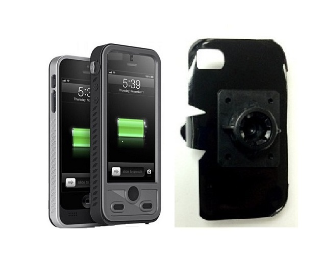 SlipGrip 17MM Holder For Apple iPhone 5 & 5S Using ibattz Mojo Refuel Aqua Battery Case