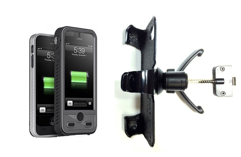 SlipGrip Vent Holder For Apple iPhone 5 & 5S Using ibattz Mojo Refuel Aqua Battery Case