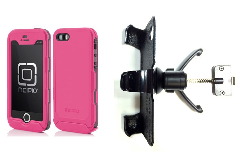 SlipGrip Vent Holder For Apple iPhone 5 & 5S Using Incipio ATLAS ID Waterproof Rugged Case