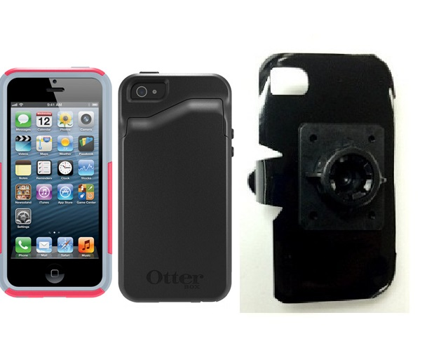 SlipGrip 17MM Holder For Apple iPhone 5 & 5S Using Otterbox Commuter Wallet Series Case
