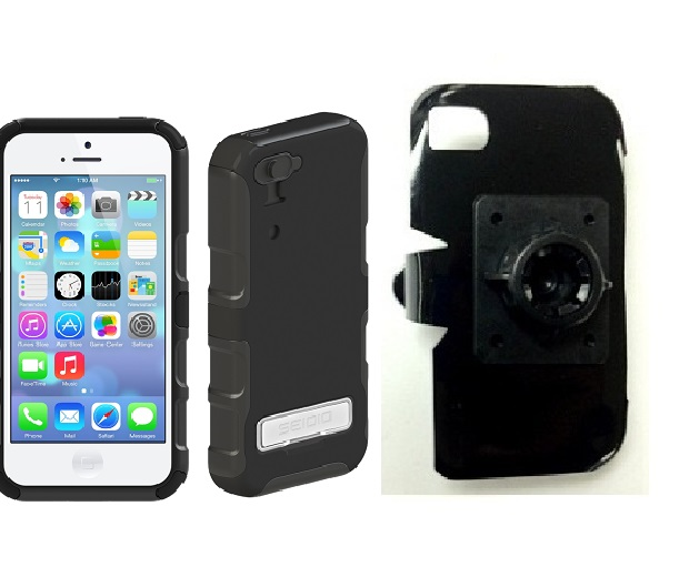 SlipGrip 17MM Holder For Apple iPhone 5C Using Seidio CONVERT Metal KickStand Case