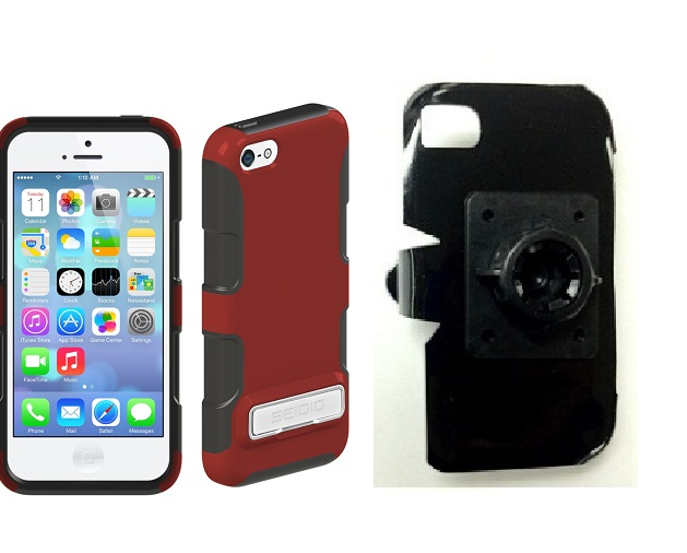 SlipGrip 17MM Holder For Apple iPhone 5C Using Seidio DILEX Metal KickStand Case