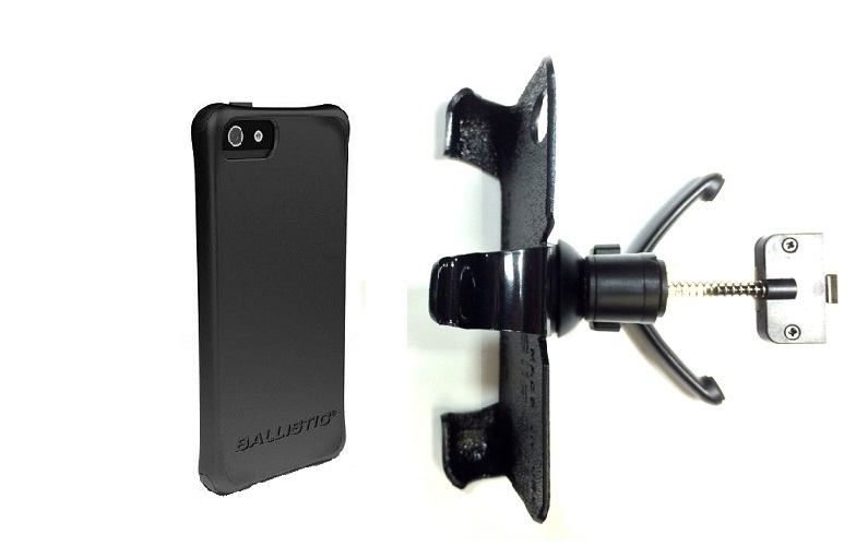 SlipGrip Vent Holder For Apple iPhone 5 & 5S Using Ballistic LS Smooth Series Case