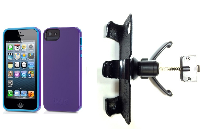 SlipGrip Vent Holder For Apple iPhone 5 & 5S Using Tech21 Impact Trio Case