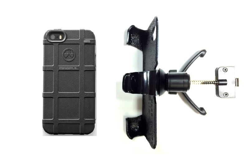 SlipGrip Vent Holder For Apple iPhone 5 & 5S Using Magpul Bump Case
