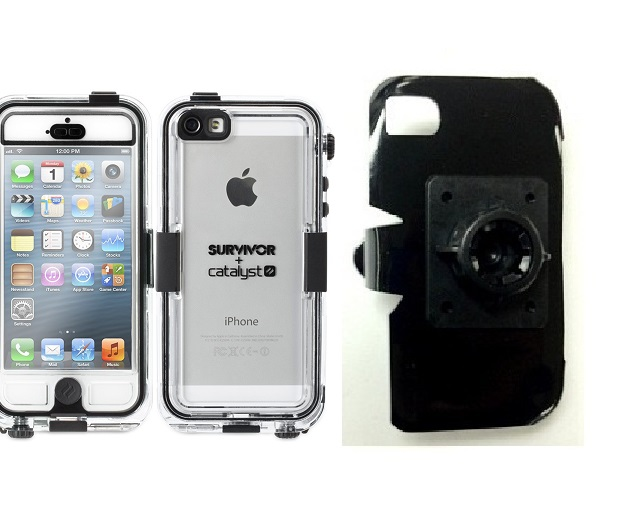 SlipGrip 17MM Holder For Apple iPhone 5 & 5S Using Griffin Survivor Catalyst Waterproof Case