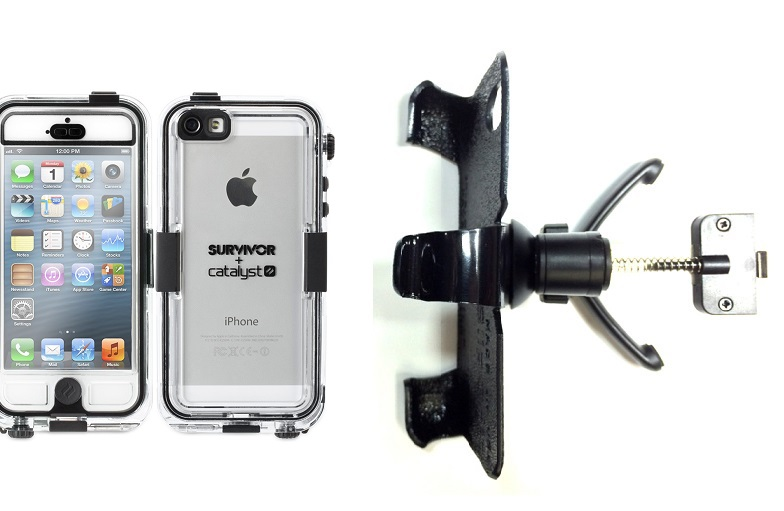 SlipGrip Vent Holder For Apple iPhone 5 & 5S Using Griffin Survivor Catalyst Waterproof Case