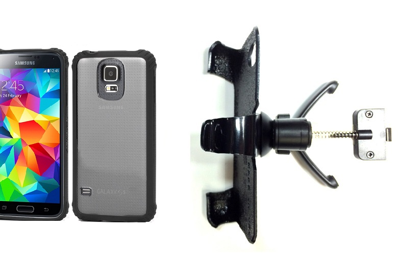 SlipGrip Vent Holder For Samsung Galaxy S5 i9600 Using Griffin Survivor Clear Case