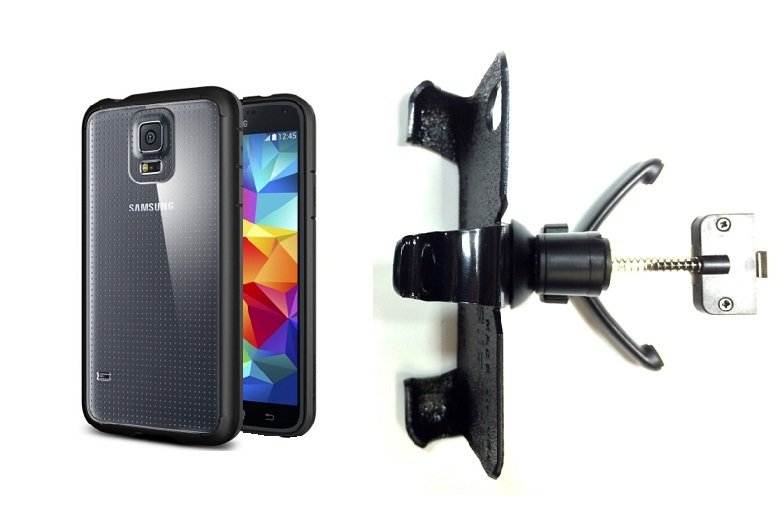 SlipGrip Vent Holder For Samsung Galaxy S5 i9600 Using Spigen Ultra Hybrid Case
