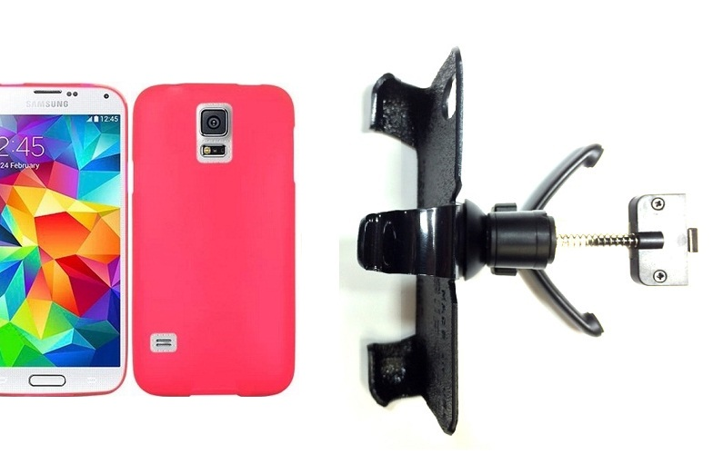 SlipGrip Vent Holder For Samsung Galaxy S5 i9600 Using Hard & Rubber Hard Rubber Case