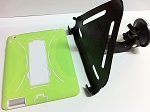 SlipGrip Car Mount For Apple iPAD 2 & 3 & 4 Gen Using DUAL LAYER KICK STAND Case
