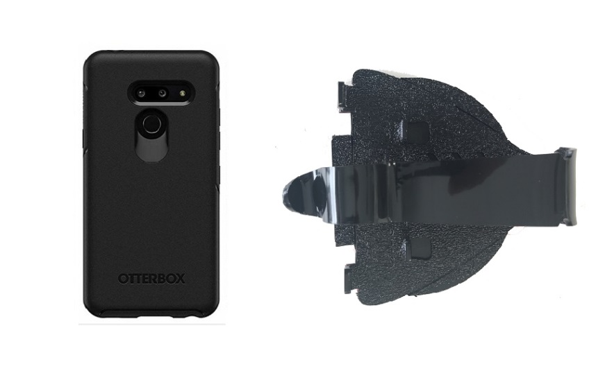 SlipGrip Car Dashboard Holder For LG G8 ThinQ Using Otterbox Symmetry Case