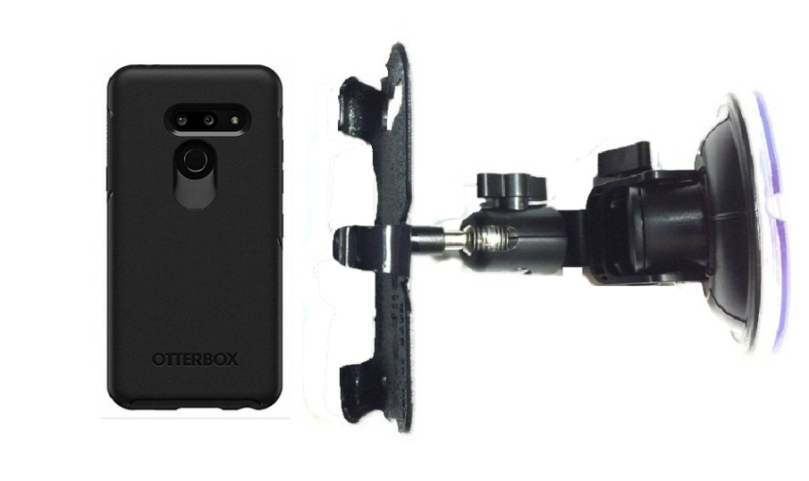 SlipGrip Car DT Holder For LG G8 ThinQ Using Otterbox Symmetry Case