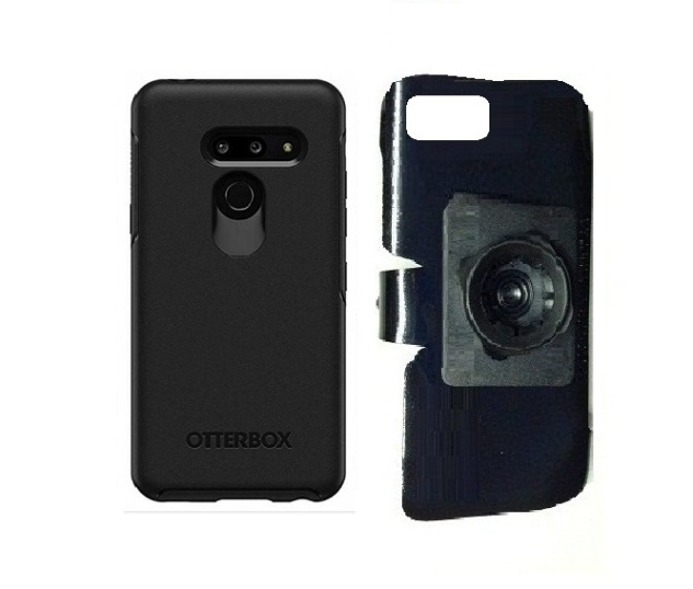 SlipGrip 22mm Ball Holder For LG G8 ThinQ Using Otterbox Symmetry Case