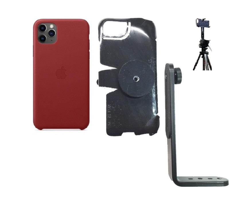 SlipGrip Tripod Mount For Apple iPhone 11 Pro Max Using Apple Leather Case