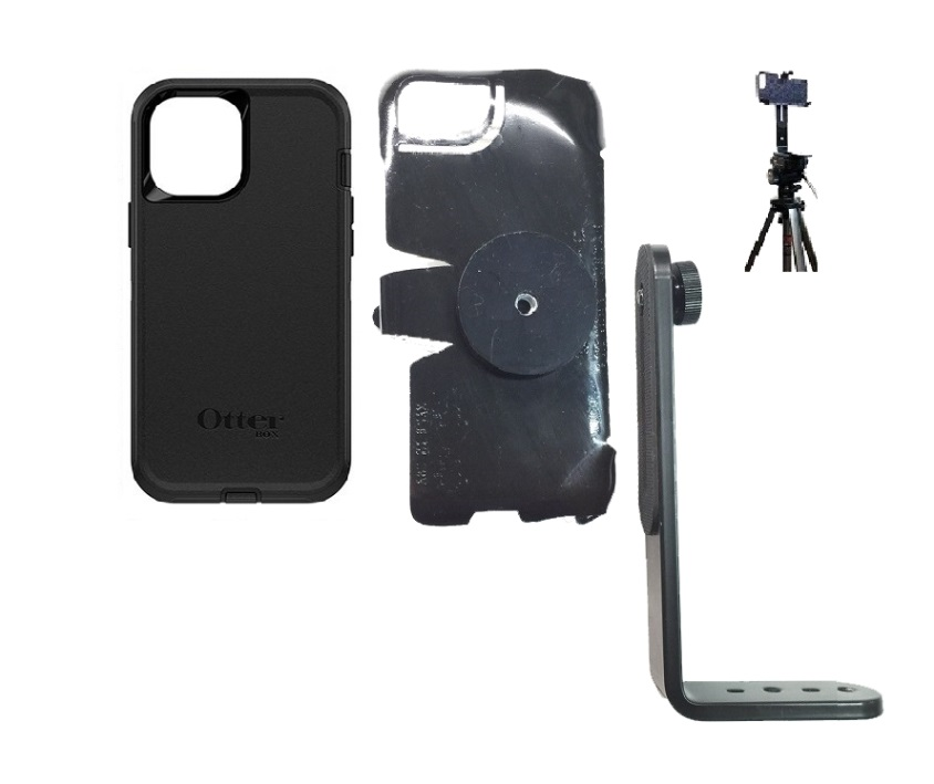 SlipGrip Tripod Mount For Apple iPhone 12 Pro Using Otterbox Defender Case