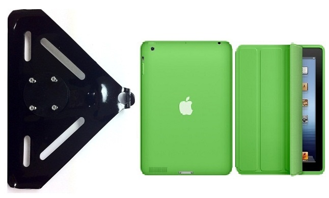 SlipGrip RAM-HOL Mount For Apple iPad 2 & 3 & 4 Generation Tablet Using Genuine Apple Smart Case
